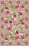 Marcella Vera Bradley Signature VBY070B Make Me Blush Green/Pink Closeout Area Rug