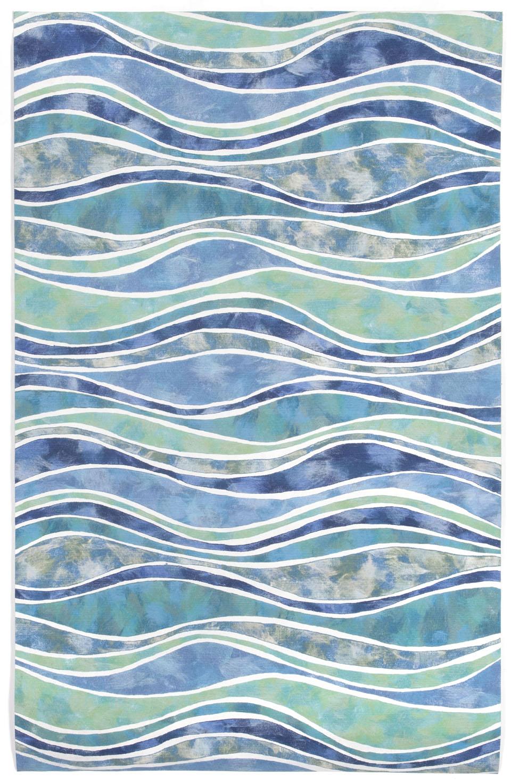 Visions Iii 3126 04 Wave Ocean Area Rug