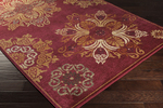 Surya Arabesque ABS-3001 Plum/Gold/Beige Closeout Area Rug - Spring 2015