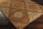 Surya Arabesque ABS-3019 Chocolate/Gold/Rust Closeout Area Rug - Fall 2015