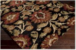 Surya Alfredo AFR-3313 Black/Burgundy/Tan Closeout Area Rug