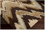 Surya Alfredo AFR-3322 Chocolate/Gold/Light Grey/Beige Closeout Area Rug