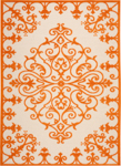 Nourison Aloha ALH12 ORG Orange Area Rug