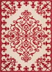 Nourison Aloha ALH12 RED Red Area Rug