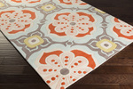 Surya Kate Spain Alhambra ALH-5007 Poppy/Salmon/Light Grey/Gold Closeout Area Rug