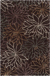 Surya Amelia AME-2212 Dark Brown/Rose Smoke/Papyrus Closeout Area Rug - Spring 2013