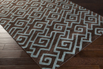 Surya Amelia AME-2240 Chocolate/Teal Closeout Area Rug - Fall 2015