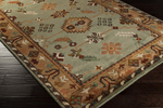 Surya Anastacia ANA-8410 Mint/Dark Brown/Burnt Orange/Dark Green Area Rug