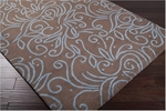 Surya Julie Cohn Artist Studio ART-66 Dark Chocolate/Powder Blue Closeout Area Rug - Fall 2012