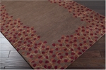 Surya Athena ATH-5003 Chocolate/Burgundy/Gold/Rust Area Rug