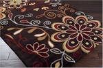 Surya Athena ATH-5037 Chocolate/Burgundy/Gold/Burnt Orange Area Rug