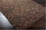 Surya Athena ATH-5052 Chocolate/Burgundy/Tan/Taupe Area Rug