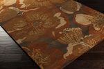 Surya Athena ATH-5102 Rust/Chocolate/Gold/Tan Area Rug