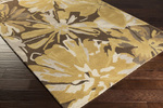 Surya Athena ATH-5115 Gold/Chocolate/Light Grey Area Rug