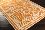 Surya Beth Lacefield Atlas ATS-1003 Burnt Orange/Cream Area Rug