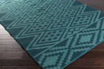 Surya Aztec AZT-3006 Teal/Teal Closeout Area Rug - Spring 2015