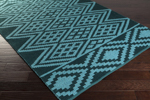 Surya Aztec AZT-3013 Sky Blue/Teal Closeout Area Rug - Spring 2015