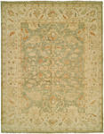 HRI Oushak Crown B-70 Light Green/Ivory Area Rug