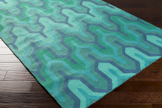 Surya Brentwood Bnt 7700 Teal Emerald Kelly Green Closeout