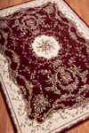 Nourison Bordeaux BOR01 Burgundy Closeout Area Rug