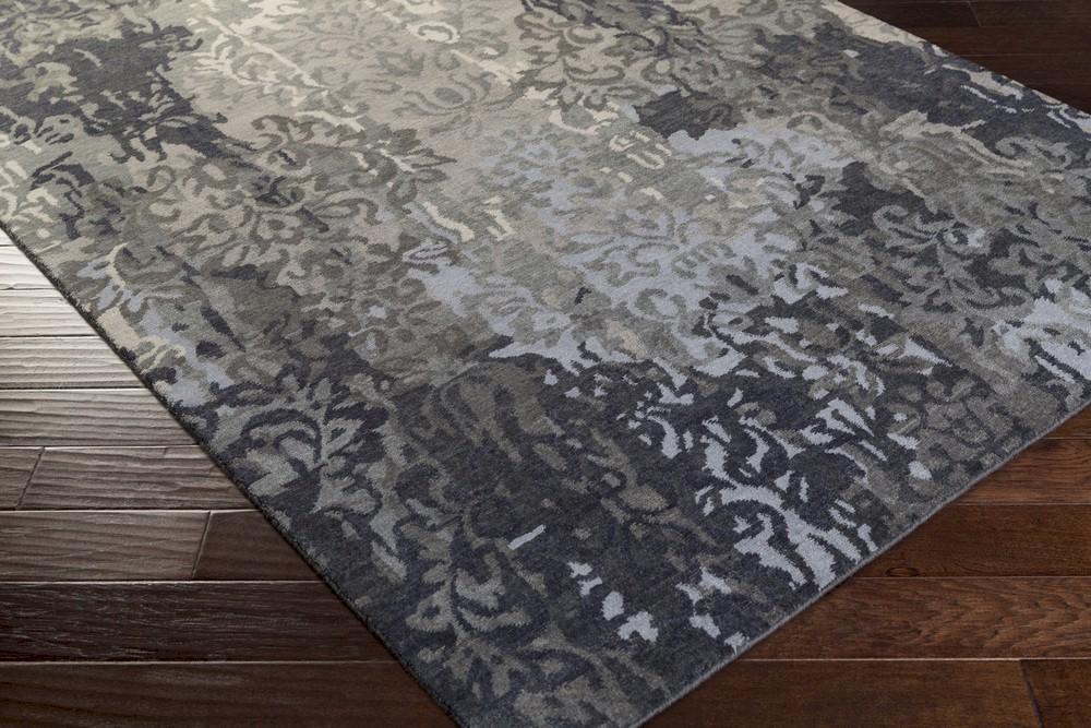 Surya Brocade Brc 1010 Charcoal Grey