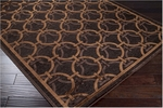 Surya Basilica BSL-7104 Chocolate/Golden Brown Closeout Area Rug - Fall 2011