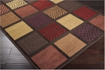 Surya Basilica BSL-7134 Chocolate/Dark Red Closeout Area Rug - Spring 2012