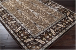 Surya Basilica BSL-7161 Driftwood Brown/Dark Chocolate/Mediterranean Blue Closeout Area Rug - Fall 2012