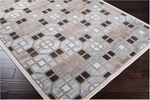 Surya Basilica BSL-7172 Silvered Grey/Doe Skin/Dark Chocolate Closeout Area Rug - Fall 2012