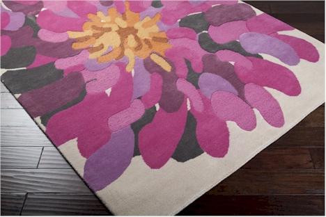 Surya Bombay Bst 529 Bone Raspberry Prune Purple Area Rug