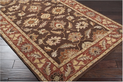 Surya Caesar Cae 1036 Dark Chocolate Raw Sienna Area Rug