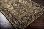 Surya Caesar CAE-1048 Turtle Green/Dark Brown Closeout Area Rug