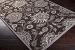 Surya Caesar CAE-1063 Dark Chocolate/Grey Area Rug