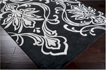 Designer Series DS040031 Black Fluer De Lis Rug