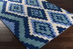 Surya Beth Lacefield Calaveras CAV-4012 Cobalt/Ivory/Teal Closeout Area Rug - Spring 2015