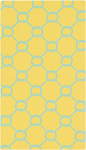 Surya Cape Cod CCD-1033 Lemon/Aqua Closeout Area Rug