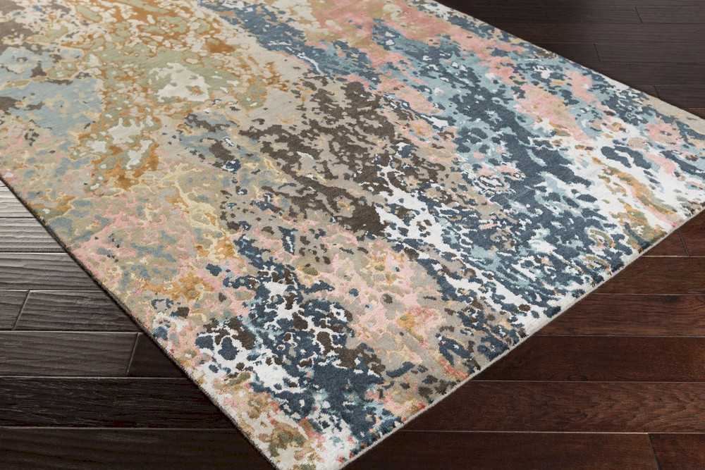 Well known Surya Chemistry CHM-2002 Navy/Teal/Grey/Black/Tan/Coral Area Rug FH64