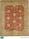 HRI Classical Elegance 402 Rust/Ivory Closeout Area Rug