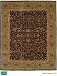HRI Classical Elegance 421 Black/Light Green Closeout Area Rug