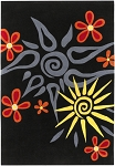 Surya Cow Parade COW-1005 Black/Grey Closeout Area Rug - Fall 2010