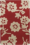 Surya Cow Parade COW-1013 Red/Cream Closeout Area Rug - Fall 2010