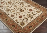 Surya Crowne CRN-6004 Dark Beige/Raw Sienna /Khaki Green Area Rug