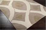 Surya Candice Olson Decadent DCT-6501 Bone/Safari Tan/Dark Khaki Closeout Area Rug - Fall 2012
