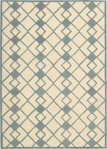 Nourison Decor DER03 IVBLU Ivory/Blue Area Rug