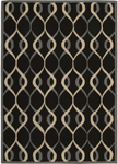 Nourison Decor DER04 BLK Black Area Rug