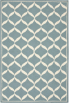 Nourison Decor DER06 AQUWT Aqua/White Area Rug