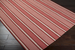 Surya Country Living Farmhouse Stripes FAR-7009 Coral/Burgundy Closeout Area Rug - Spring 2013