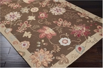 Surya Flor FLO-8902 Dark Brown/Putty/Rust Red Closeout Area Rug - Fall 2013