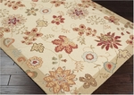 Surya Flor FLO-8903 Putty/Gold/Rust Red Closeout Area Rug - Fall 2013