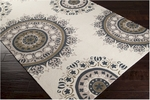 Surya Flor FLO-9003 Antique White/Olive Grey/Sand Dollar Closeout Area Rug - Spring 2014